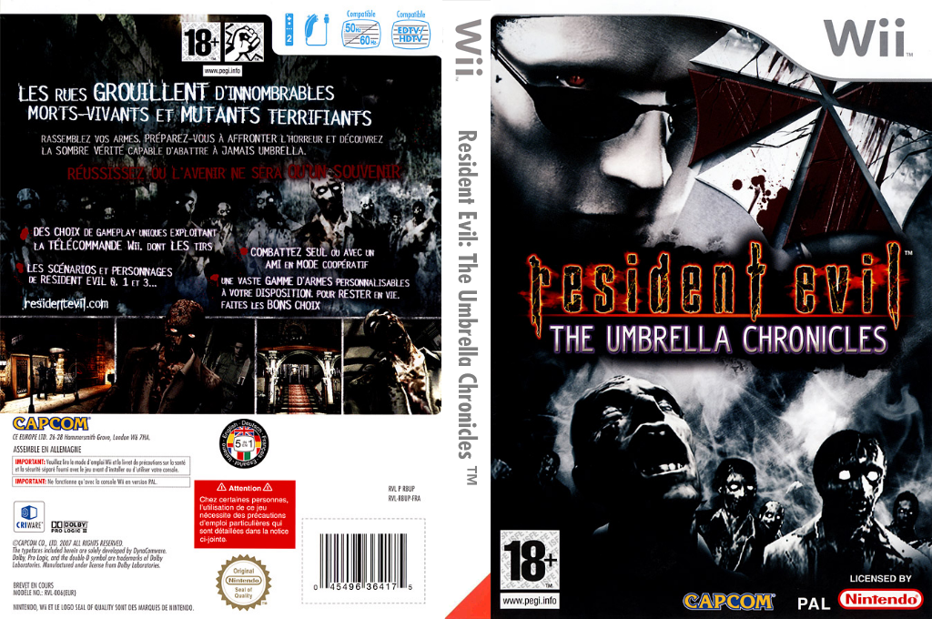 Resident Evil:The Umbrella Chronicles Wii coverfullHQ (RBUP08)