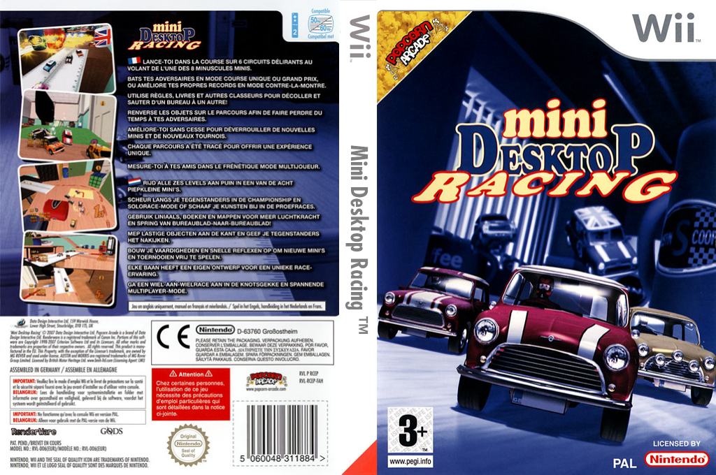 Mini Desktop Racing Wii coverfullHQ (RCEPUG)
