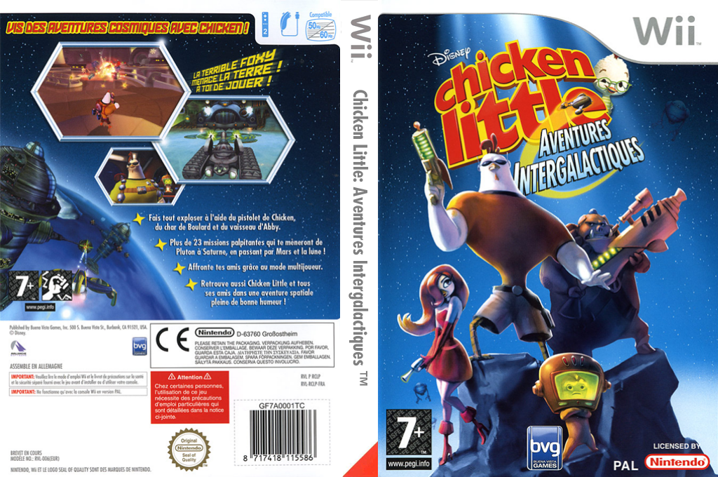 Chicken Little : Aventures Intergalactiques Wii coverfullHQ (RCLP4Q)