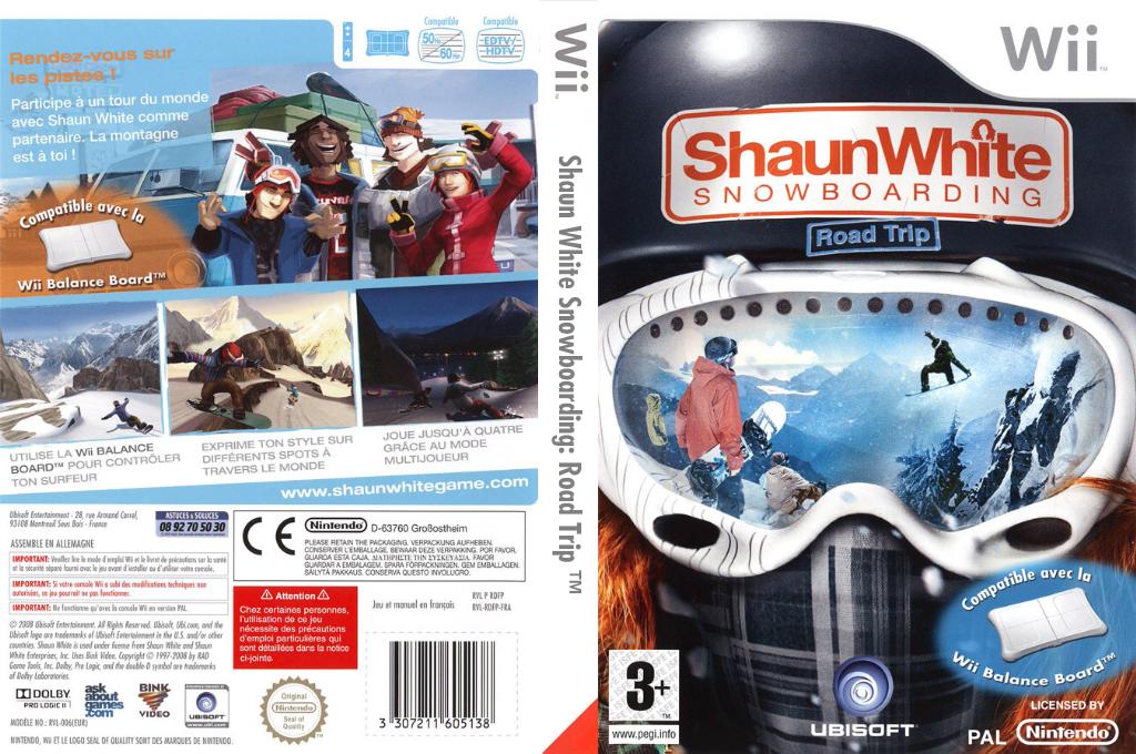 Shaun White Snowboarding : Road Trip Wii coverfullHQ (RDFP41)