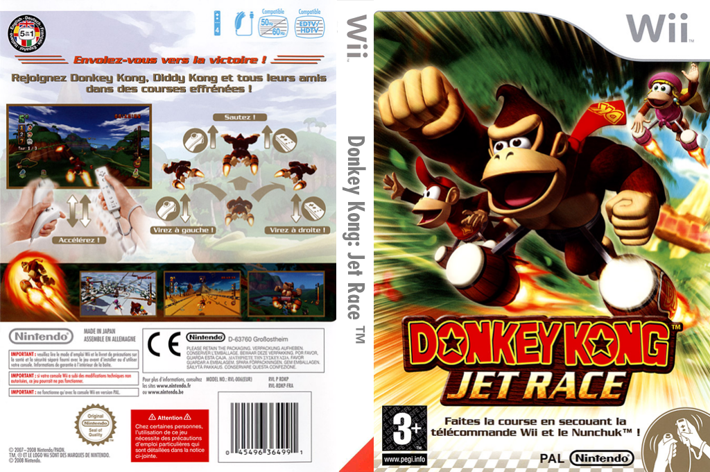 Donkey Kong:Jet Race Wii coverfullHQ (RDKP01)