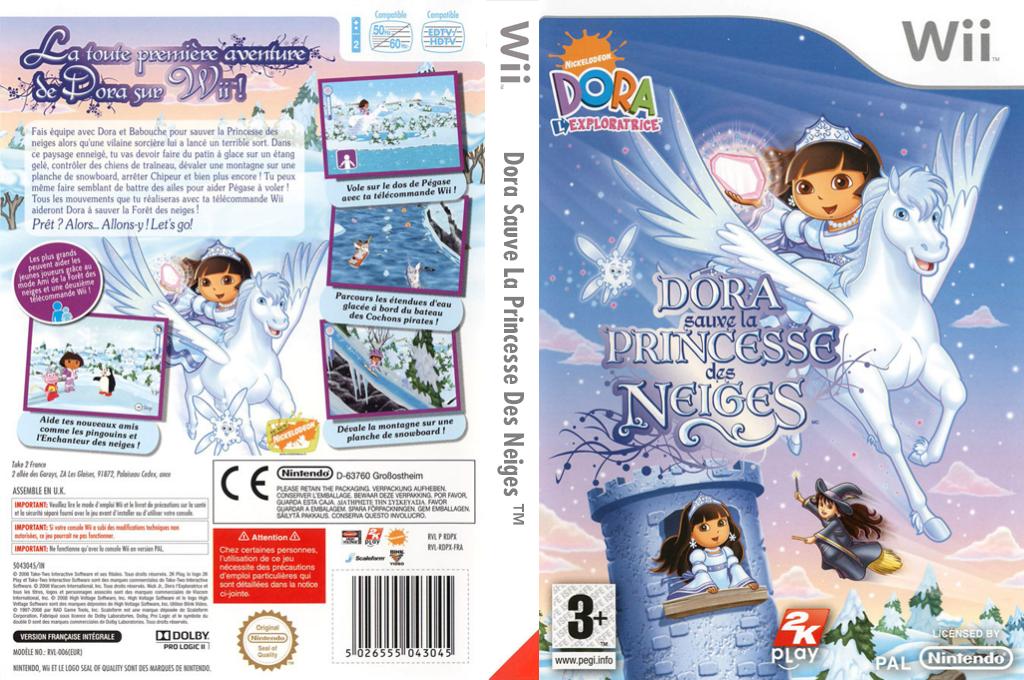 Dora sauve la Princesse des Neiges Wii coverfullHQ (RDPX54)