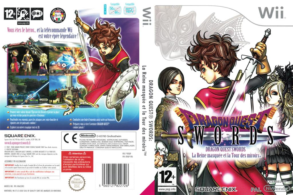 Dragon Quest Swords:la Reine masquée et la Tour des miroirs Wii coverfullHQ (RDQPGD)