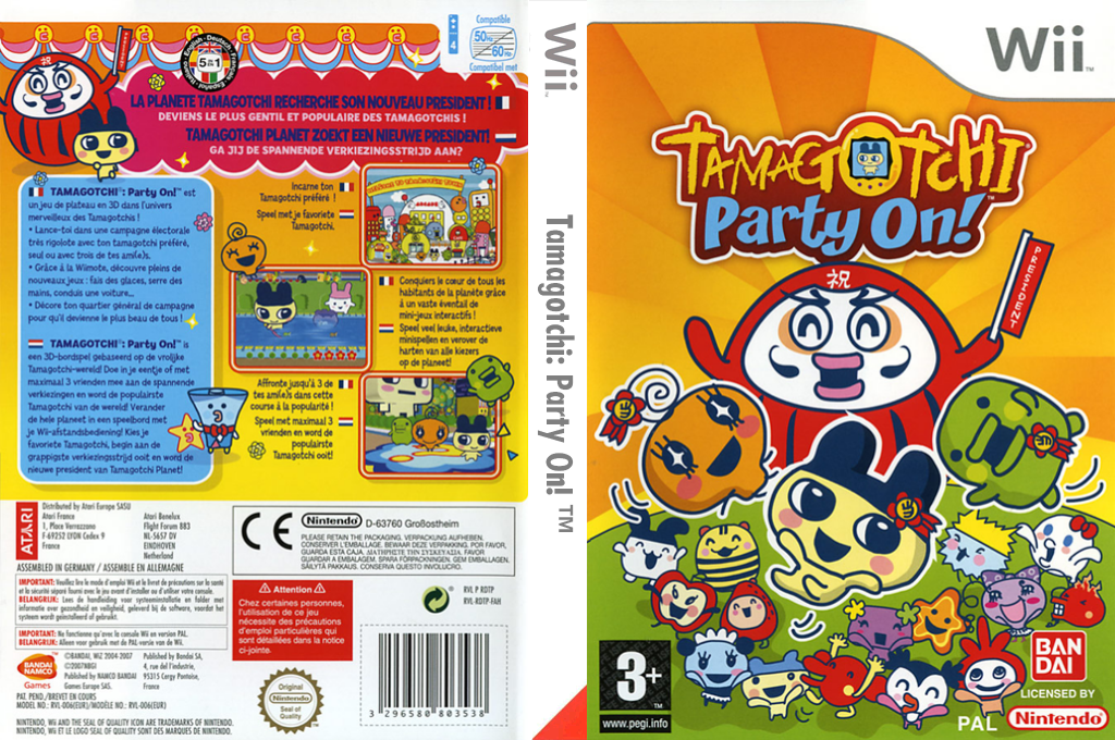 Tamagotchi : Party On! Wii coverfullHQ (RDTPAF)