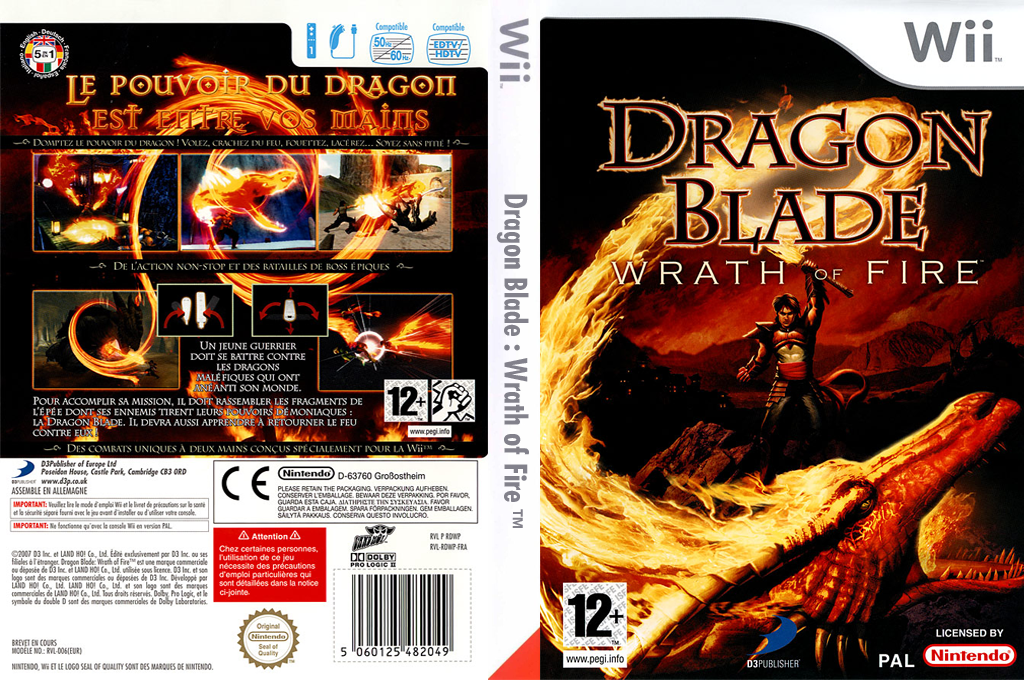 Dragon Blade : Wrath of Fire Wii coverfullHQ (RDWPG9)