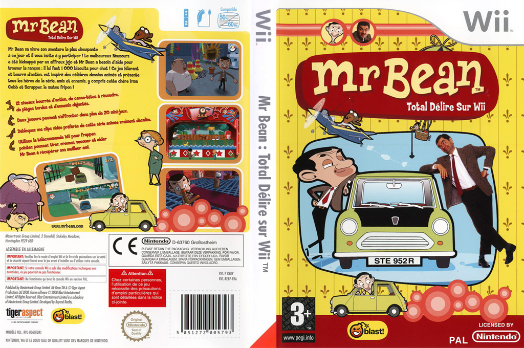 Mr Bean:Total Délire sur Wii Wii coverfullHQ (REBPMT)