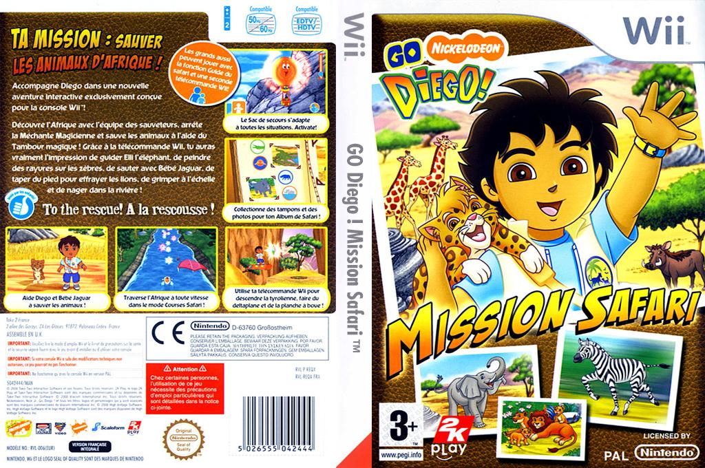 Go Diego! Mission Safari Wii coverfullHQ (REQP54)