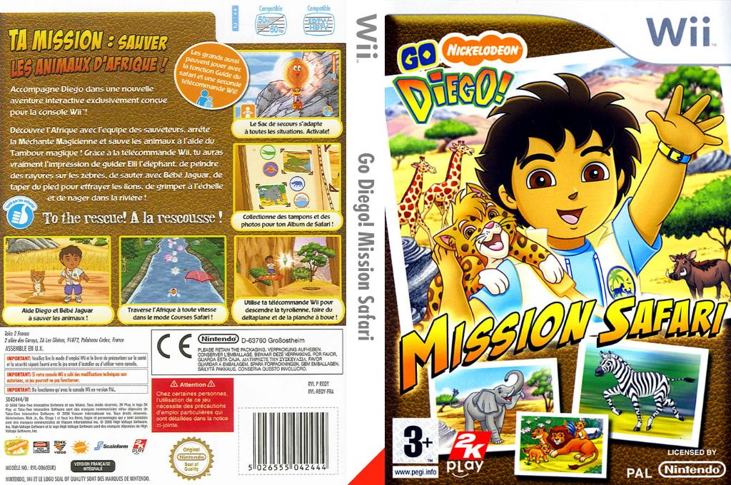 Go Diego! Mission Safari Wii coverfullHQ (REQY54)