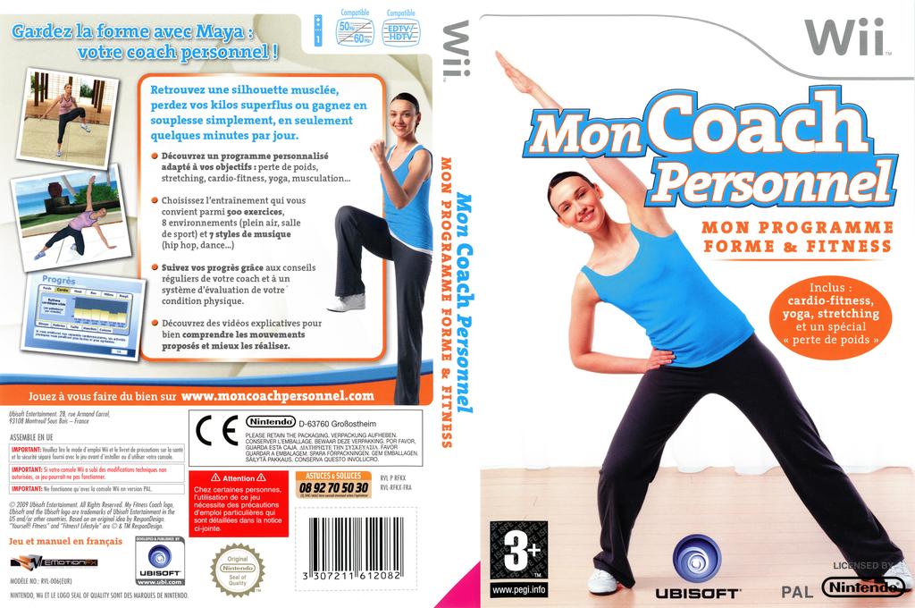 Mon Coach Personnel:Mon Programme Forme et Fitness Wii coverfullHQ (RFKX41)