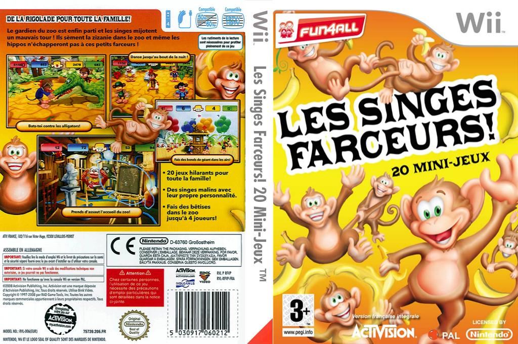 Les Singes Farceurs! 20 Mini-Jeux Wii coverfullHQ (RFVP52)