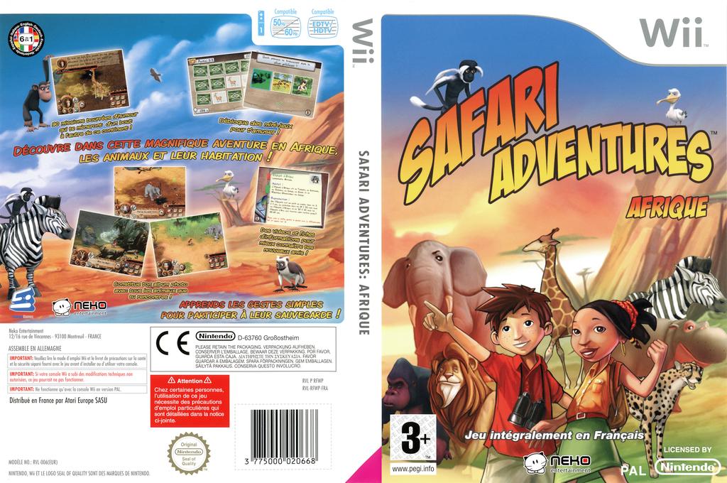 Safari Adventures:Afrique Wii coverfullHQ (RFWPNK)