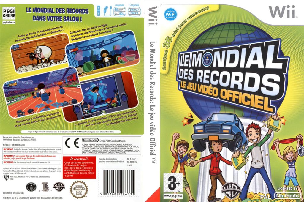 Le Mondial des Records:Le Jeu Vidéo Officiel Wii coverfullHQ (RG5PWR)