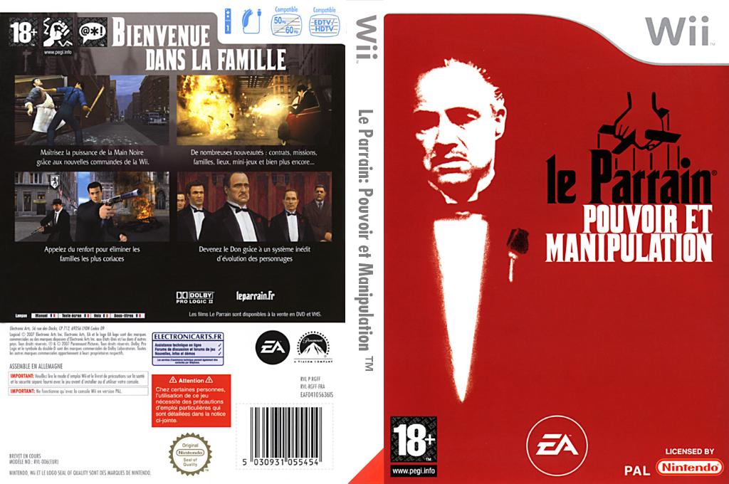 Le Parrain:Pouvoir et Manipulation Wii coverfullHQ (RGFS69)