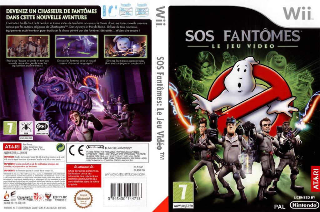 SOS Fantômes:Le Jeu Vidéo Wii coverfullHQ (RGQP70)