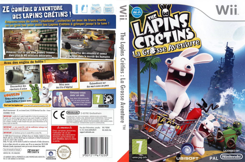 The Lapins Crétins:La Grosse Aventure Wii coverfullHQ (RGWX41)