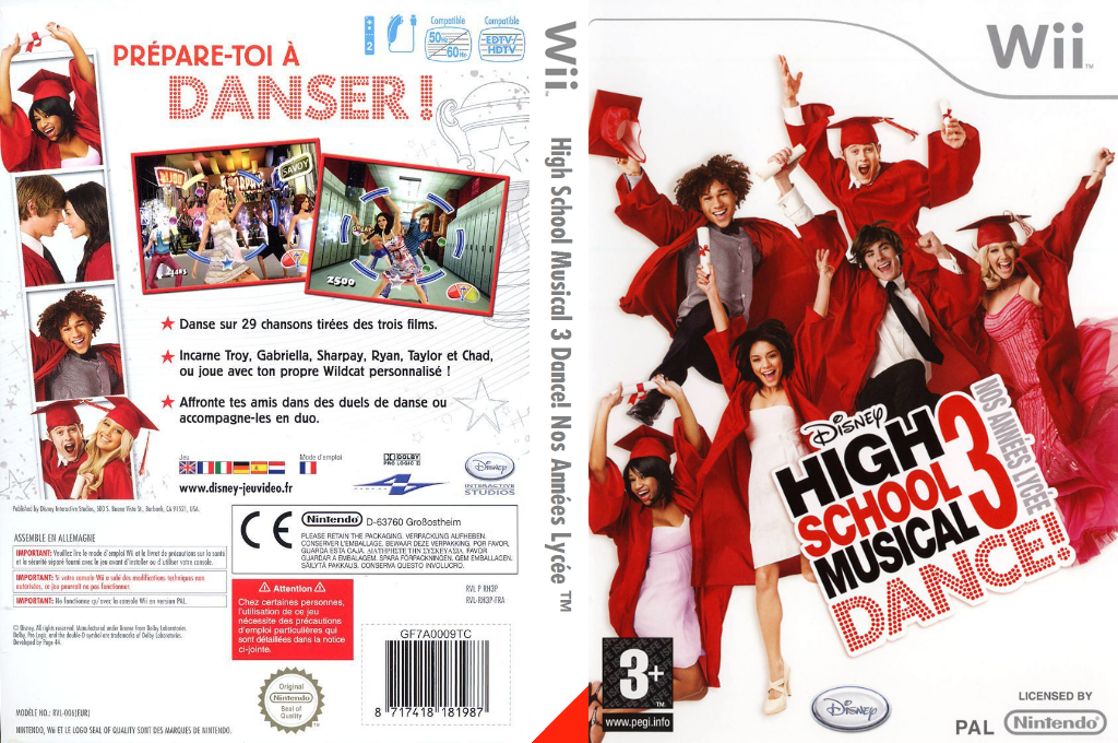 High School Musical 3 Dance! Nos Années Lycée Wii coverfullHQ (RH3P4Q)