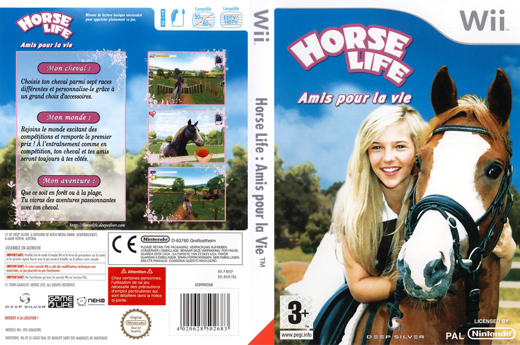 Horse Life:Amis pour la vie Wii coverfullHQ (RH5PKM)