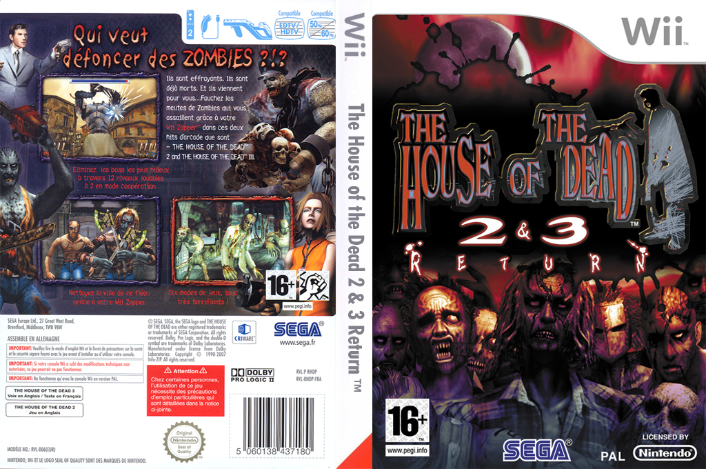 The House of the Dead 2 & 3 Return Wii coverfullHQ (RHDP8P)