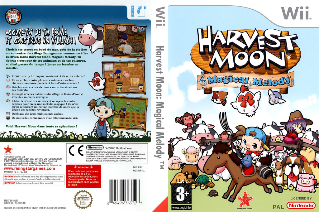 Harvest Moon : Magical Melody Wii coverfullHQ (RHMP99)