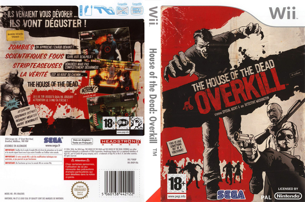 The House of the Dead : Overkill Wii coverfullHQ (RHOP8P)