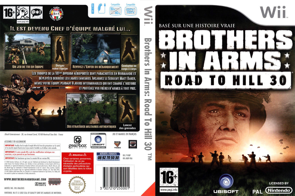 Brothers in Arms : Road to Hill 30 Wii coverfullHQ (RI8P41)