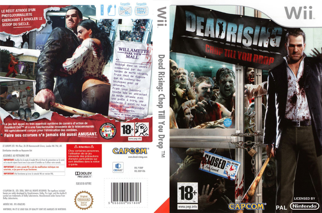 Dead Rising : Chop Till You Drop Wii coverfullHQ (RINP08)
