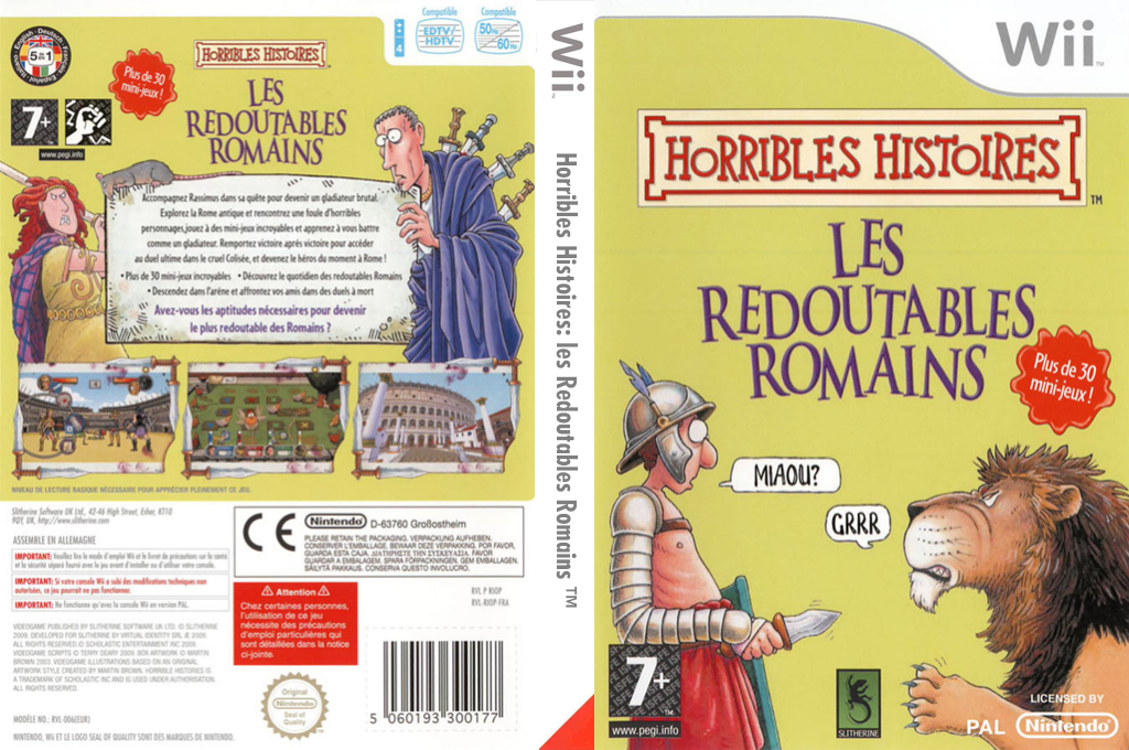 Horribles Histoires : les Redoutables Romains Wii coverfullHQ (RIOPSU)