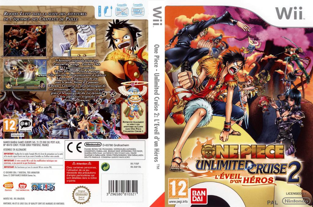 One Piece - Unlimited Cruise 2 :L'Eveil d'un Héros Wii coverfullHQ (RIUPAF)