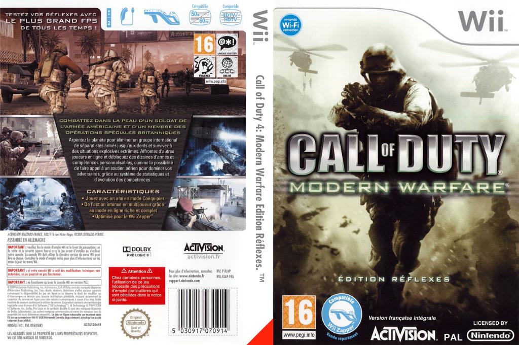 Call of Duty:Modern Warfare -Edition Réflexes Wii coverfullHQ (RJAX52)