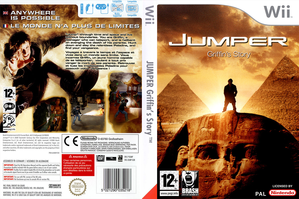 Jumper : Griffin's Story Wii coverfullHQ (RJMPRS)
