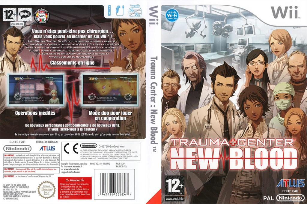 Trauma Center:New Blood Wii coverfullHQ (RK2P01)