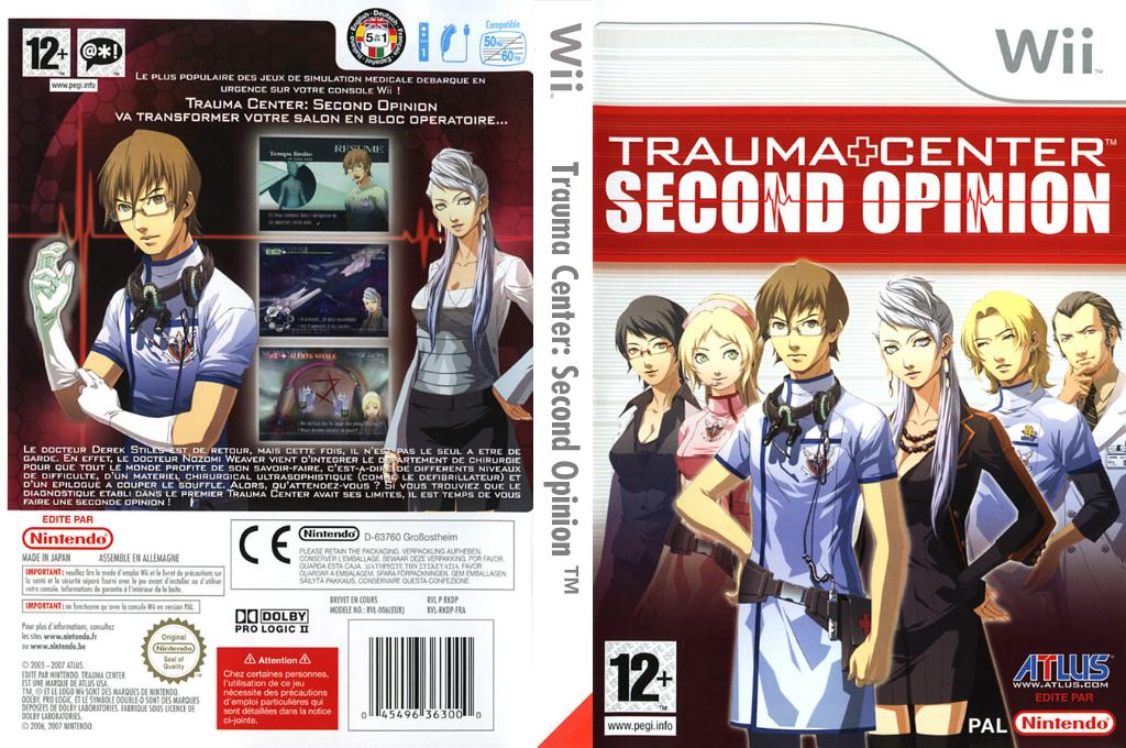 Trauma Center:Second Opinion Wii coverfullHQ (RKDP01)