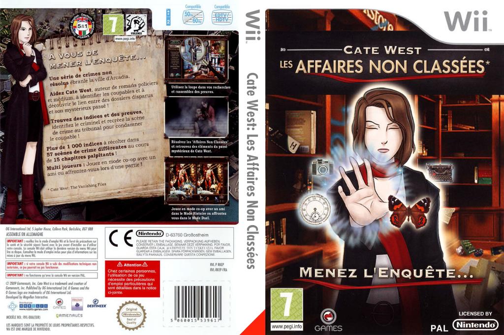 Cate West:The Vanishing Files Wii coverfullHQ (RKEPGN)