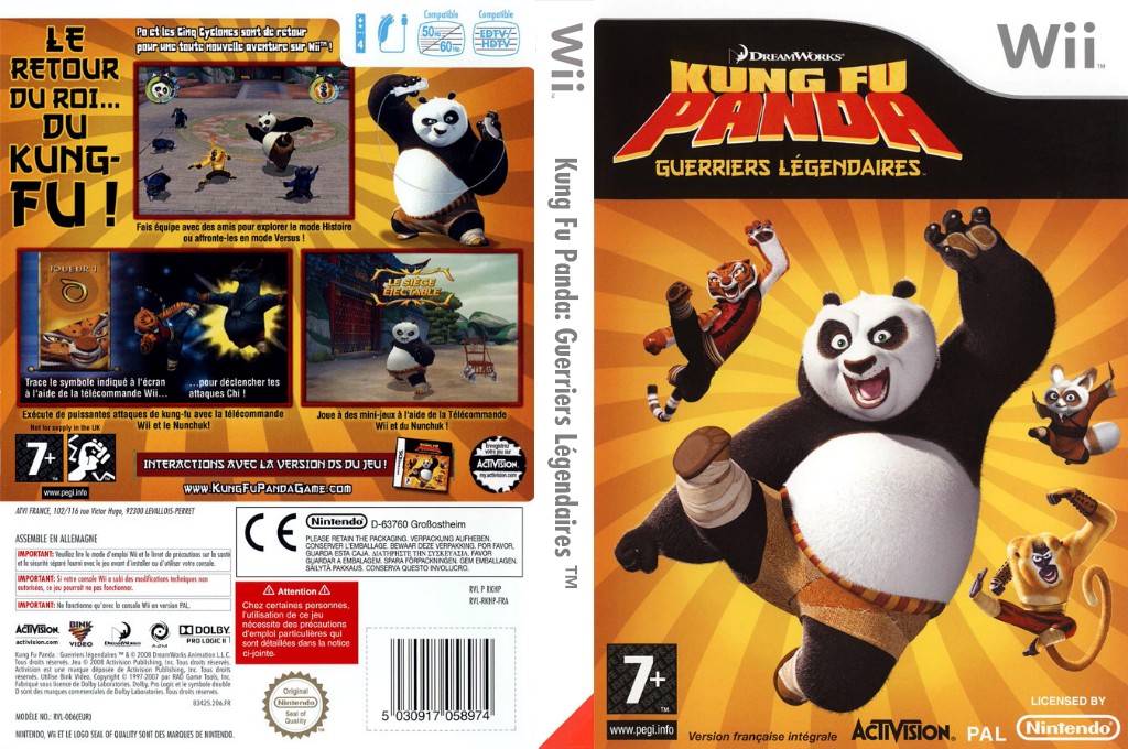 Kung Fu Panda:Guerriers Légendaires Wii coverfullHQ (RKHP52)