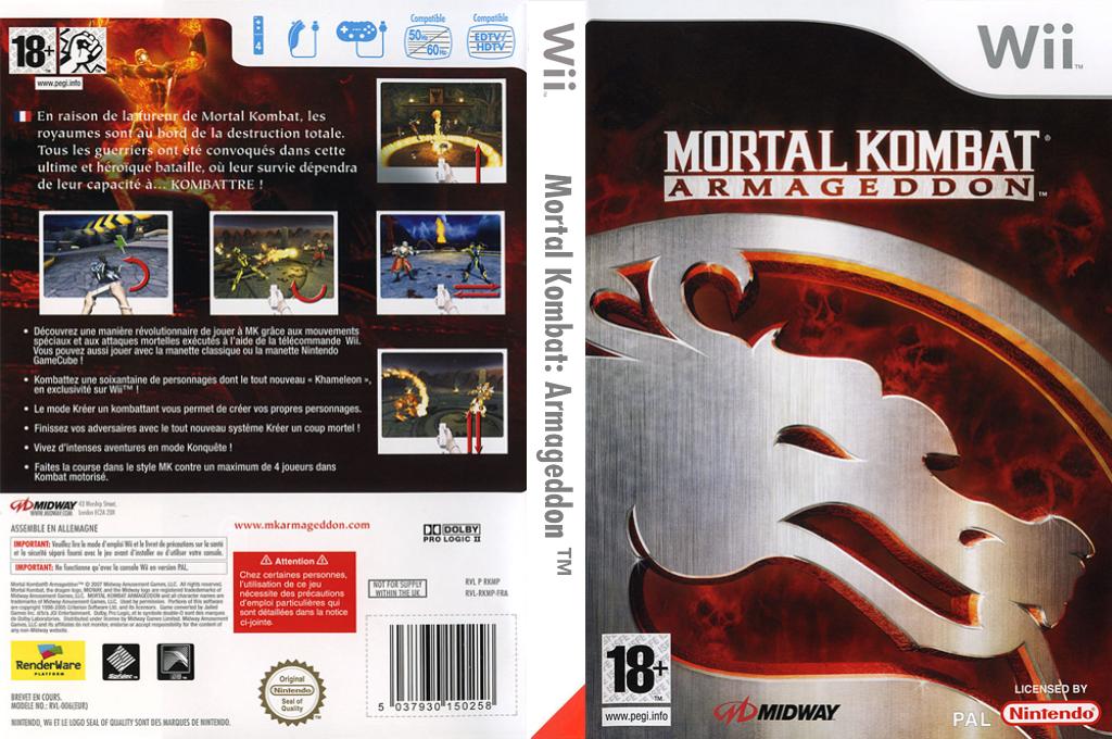 Mortal Kombat:Armageddon Wii coverfullHQ (RKMP5D)