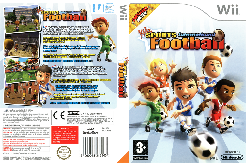 Kidz Sports : International Football Wii coverfullHQ (RKTXUG)