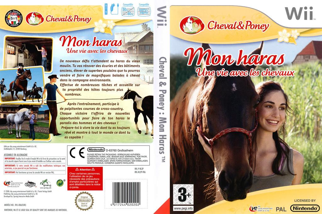 Cheval & Poney:Mon Haras Wii coverfullHQ (RL2PFR)