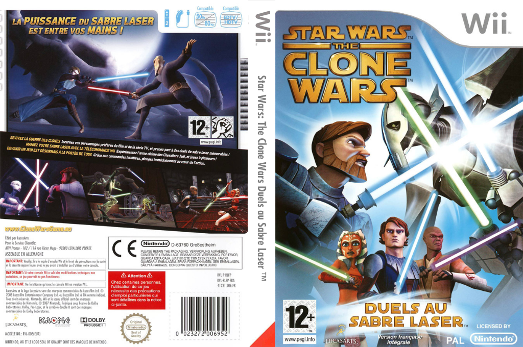 Star Wars The Clone Wars:Duels au Sabre Laser Wii coverfullHQ (RLFP64)