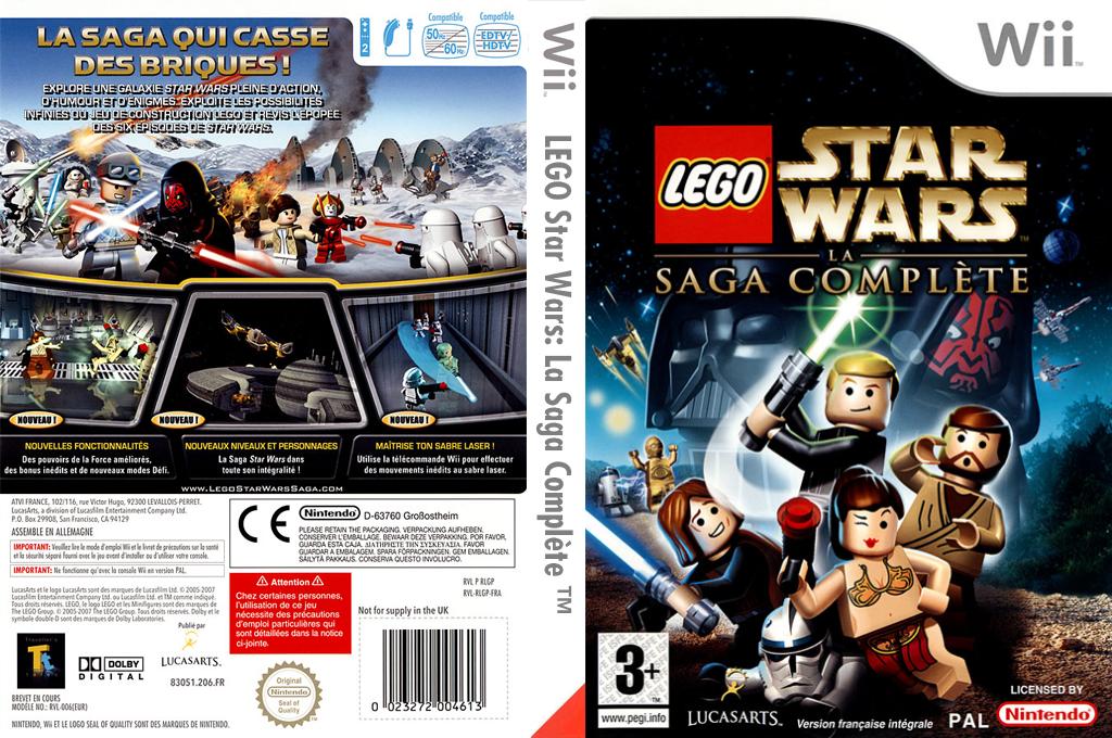 LEGO Star Wars :La Saga Complète Wii coverfullHQ (RLGP64)