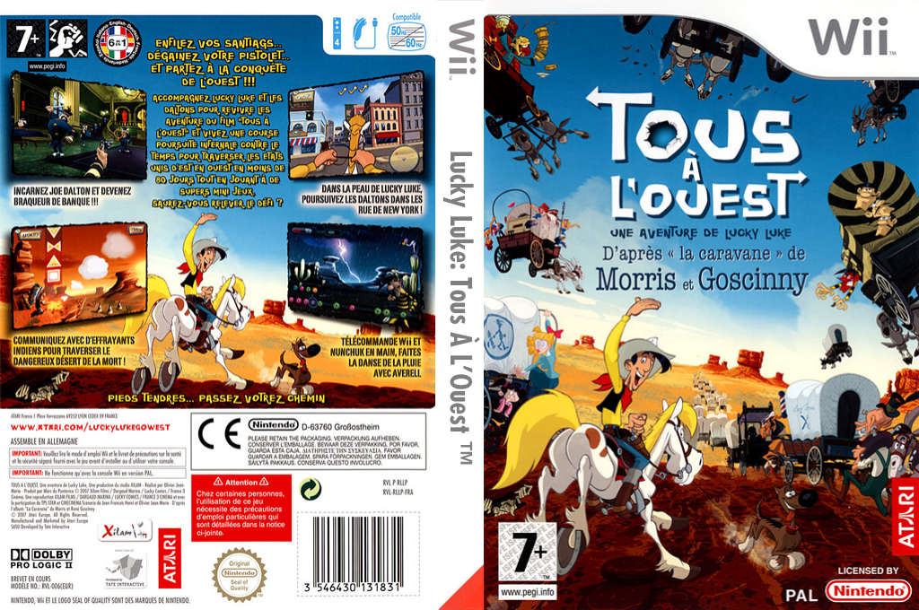 Lucky Luke: Tous À L'Ouest Wii coverfullHQ (RLLP70)