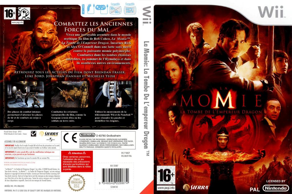 La Momie:La Tombe De L'empereur Dragon Wii coverfullHQ (RM5P7D)