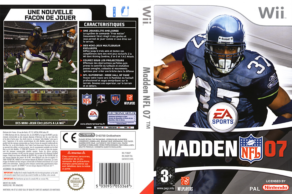 Madden NFL 07 Wii coverfullHQ (RMDP69)