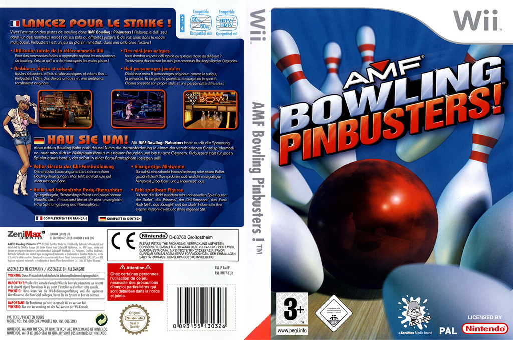 AMF Bowling Pinbusters! Wii coverfullHQ (RMFP68)