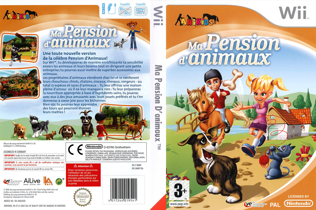 Ma Pension d'Animaux Wii coverfullHQ (RMNDFR)