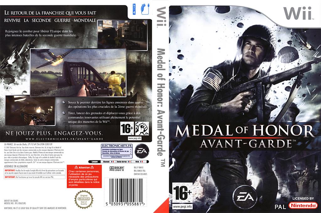 Medal of Honor : Avant-Garde Wii coverfullHQ (RMVP69)
