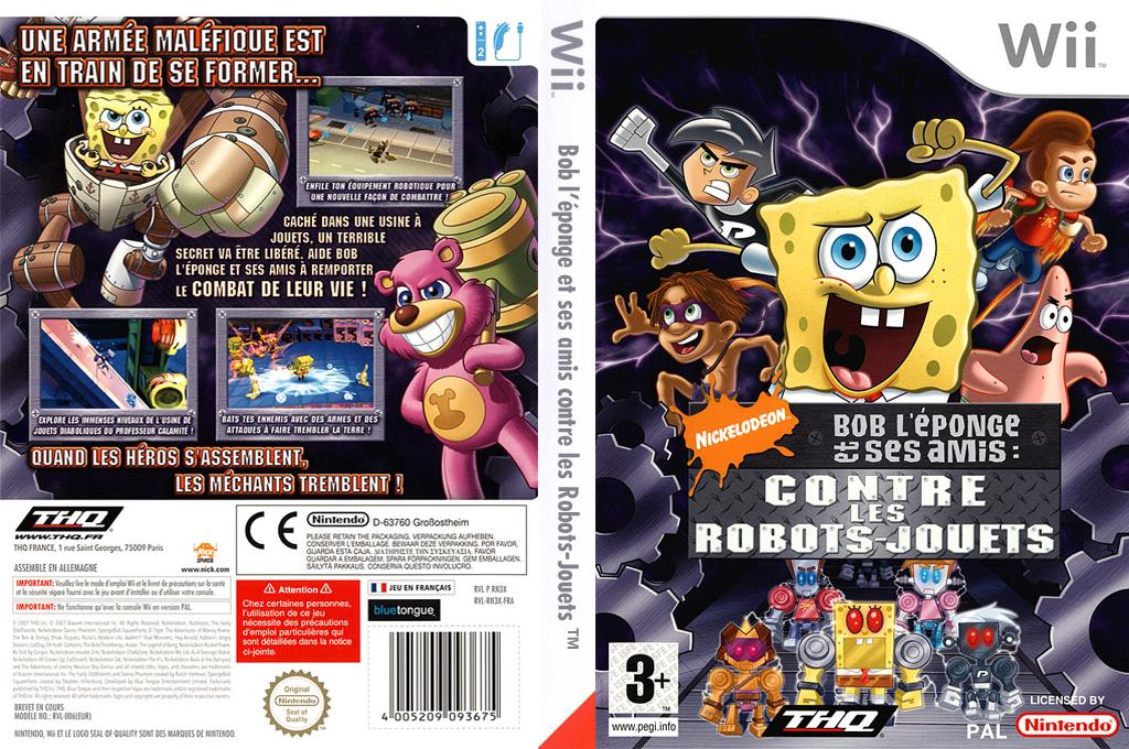 Bob l'Eponge et ses Amis:Contre les Robots-Jouets Wii coverfullHQ (RN3X78)