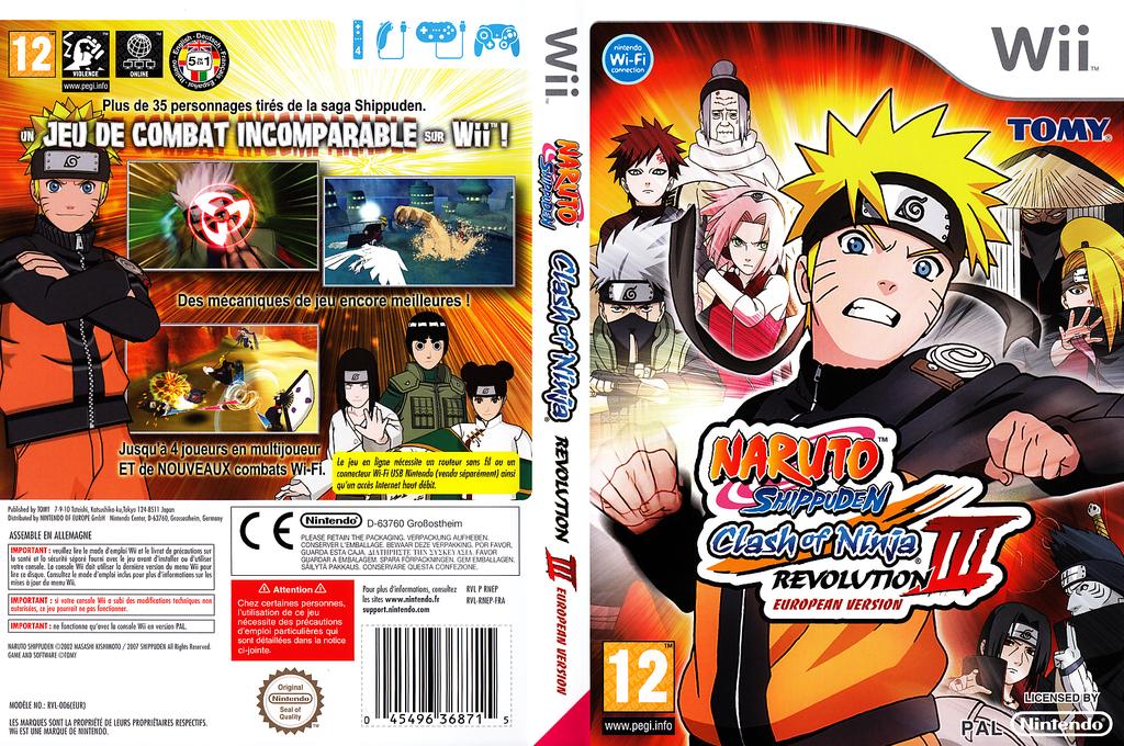 Naruto Shippuden:Clash of Ninja Revolution 3 Wii coverfullHQ (RNEPDA)