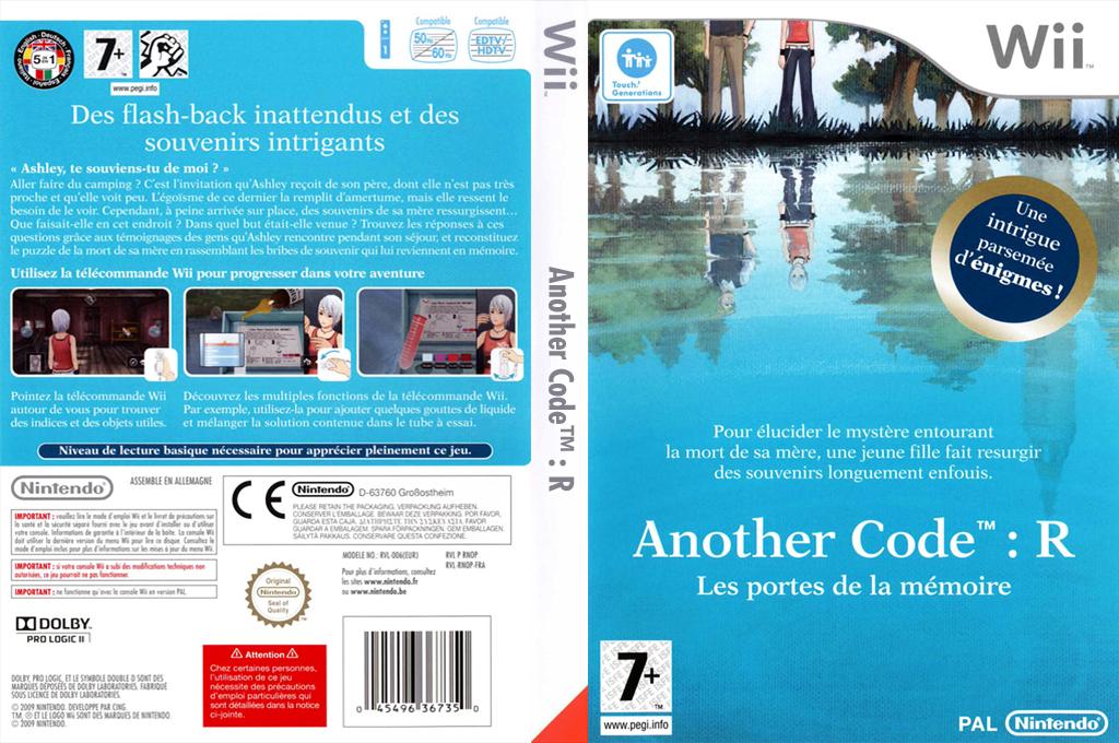 Another Code:R - Les Portes de la Mémoire Wii coverfullHQ (RNOP01)