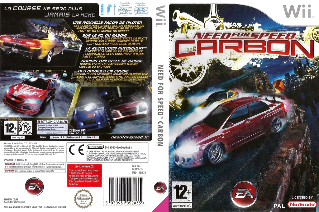 Need for Speed : Carbon Wii coverfullHQ (RNSF69)