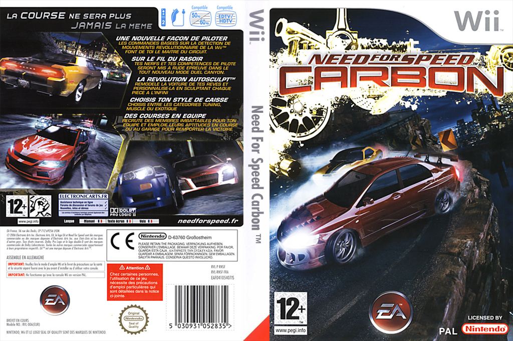 Need for Speed : Carbon Wii coverfullHQ (RNSP69)